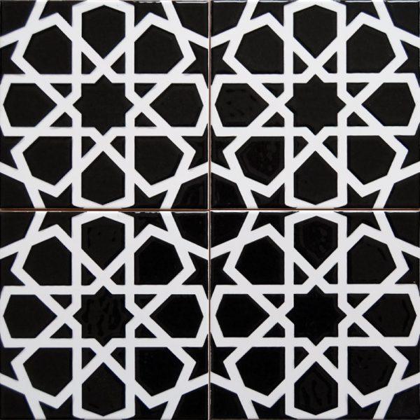 Cami Karoları 20X20 AC-89-Siyah-Beyaz