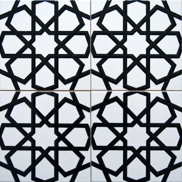 Cami Karoları 20X20 AC-89-Beyaz-Siyah